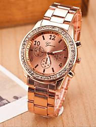 Mujer Reloj de Moda Cuarzo Aleación Banda Plata Dorado Oro Rosa Plata Dorado Oro Rosa