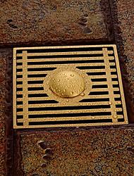 accessoire de salle de bain fini laiton antique laiton massif drain de plancher