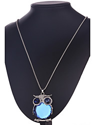 Necklace Non Stone Pendant Necklaces Jewelry Daily Casual Owl Animal Design Gem Women 1pc Gift As Per Picture
