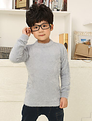 Boy's Cotton Mohair Casual Solid Color Spring/Fall/Winter Going out/Casual/Daily Long Sleeve Turtleneck Sweatshirt