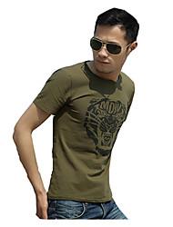 Corrida Camiseta Homens Manga Curta Respirável / Confortável Algodão / Nailom / Náilon ChinêsAcampar e Caminhar / Exercício e Atividade