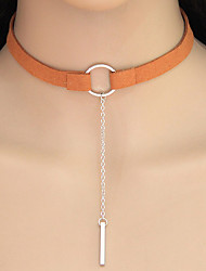 Necklace Choker Necklaces Jewelry Casual Circle Geometric Alloy Women 1pc Gift Gold / Silver