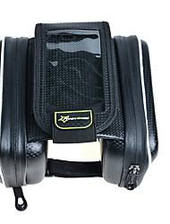 FahrradtascheFahrradrahmentasche Wasserdicht Wasserdichter Verschluß Stoßfest tragbar Touchscreen Atmungsaktiv Telefon/IphoneTasche für