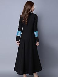 Projeto original novas mulheres&# 39; s nacionais vento magro longo casaco de mangas compridas sanduíche vestido