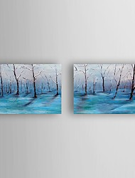 Oil Painting Landscape set of 2 Hand Painted Canvas with Stretched Framed Ready to Hang