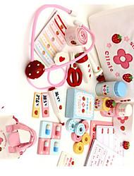 Brinquedos de Faz de Conta Brinquedos Novidades Quadrangular Madeira Arco-Íris Para Meninos Para Meninas