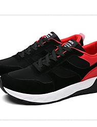 Men's Athletic Shoes Spring / Summer / Fall / Winter Comfort Canvas / Fleece Outdoor / Athletic / Casual Low Heel Lace-upBlack / Blue /