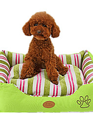 Cat / Dog Bed Pet Mats & Pads Casual/Daily Green Fabric