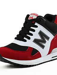 Черный Красный Серый-Женский-Для прогулок Для офиса Повседневный-Замша-На танкетке На платформе-На платформе-Спортивная обувь