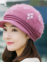 Winter Rabbit Hair Box Cap Cap Knitted Cap Women Fashion Warm Wool Hat Thicker Rabbit Hair Hat