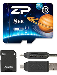 ZP 8GB Micro SD card Class 10 80 OtherMultiple in one card reader Micro sd card reader SD card reader CF card reader Memory stick reader