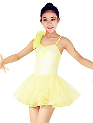 Ballet Dresses Women's / Children's Performance Spandex / Polyester / Organza / Sequined Paillettes / Sequins / Tiers 1 Piece Sleeveless