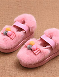 Girl's Flats Winter Comfort Fur Casual Flat Heel Pom-pom Pink Others