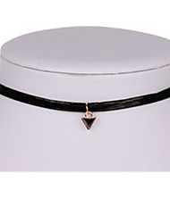 Necklace Choker Necklaces Jewelry Party Triangle Shape Basic Design Alloy Women 1pc Gift Gold