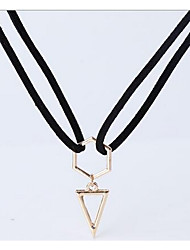 Necklace Non Stone Pendant Necklaces Jewelry Daily Casual Single Strand Unique Design Alloy Women 1pc Gift Gold