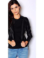 Women's Leather Jacket Rivet