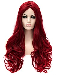 Women Synthetic Wig Capless Long Very Long Natural Wave Red Natural Wig Halloween Wig Carnival Wig Costume Wig