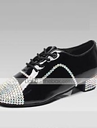 Men's Dance Shoes Inlay Diamond Latin/Modern/Ballroom Black Customizable