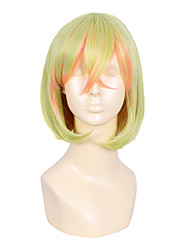 35cm Yellow Orange Mixed Color Short Straight Anime No Game No Life Teto Cosplay Harajuku Women Heat Resistant Party Wig Cheap