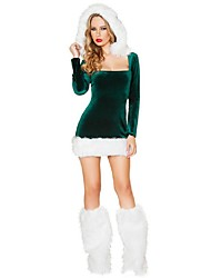 Charimg Princess Green Velvet Women's Christmas Costume