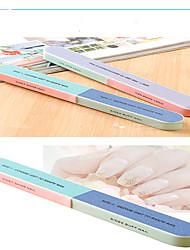 artigo lixadeira lixa de unha kit arquivo de polimento manicure 6 superfície impressa iniciantes dupla face de moagem pregos * 4pcs / sets