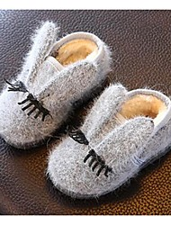 Girl's Baby Boots Comfort Polyester Casual Gray
