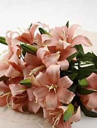 Seda Lírios Flores artificiais