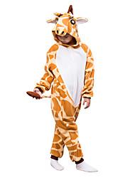 Kids Kigurumi Pajamas Giraffe Koala Leotard/Onesie Festival/Holiday Animal Sleepwear Halloween Orange Solid Polar Fleece For Kid Halloween