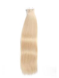 20pcs fita em extensões do cabelo lixívia 40g loira de 16 polegadas 20 polegadas 100% cabelo humano para as mulheres