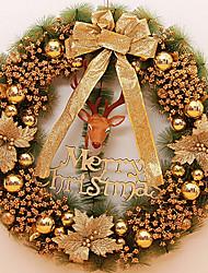 70cm guirlande oversize aiguilles de pin cryptage délicates décorations de Noël d'or