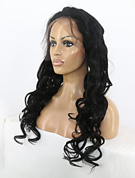 Dark Black Color Natural Body  Wave Hairstyle Brazilian Virgin Human Hair Full Lace  Wig With Baby Hair