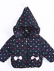 Girl Casual/Daily Polka Dot Down & Cotton Padded,Cotton Winter