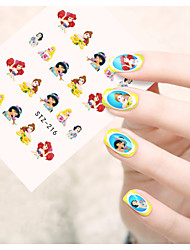 1pcs  Water Transfer Nail Art Stickers  Flower Cartoon Mickey Nail Art Design STZ211-220