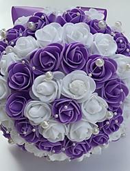 Fleurs de mariage Rond Roses Bouquets Mariage La Fête / soirée Satin Mousse Env.22cm