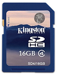 Kingston 16Go carte SD carte mémoire Class4