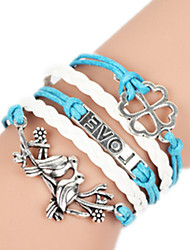 Bracelet Bangles Alloy Love Handmade Birthday / Daily Jewelry Gift Blue,1pc