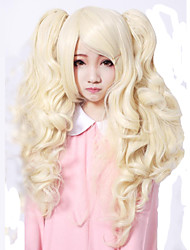Lolita Wigs Sweet Lolita Princess Medium / Curly Golden Lolita Wig 55 CM Cosplay Wigs Solid Wig For Women