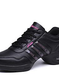 Chaussures de danse(Noir Blanc) -Non Personnalisables-Talon Bas-Synthétique-Moderne