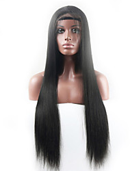2015 Brazilian Virgin Human Hair Straight Front Lace Wigs & glueless full lace wig For Americans Bleached Knots