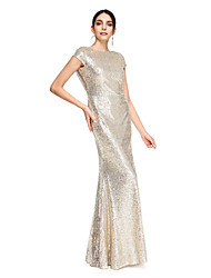 Trumpet / Mermaid Mother of the Bride Dress Floor-length Sequined with