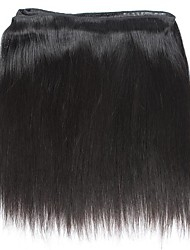 8A Indian Hair Weave 3 Bundles Straight with 360 Lace Frontal Band Closure