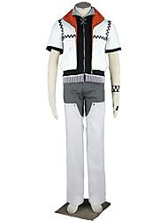 Inspiré par Kingdom Hearts Cosplay Anime Costumes de cosplay Costumes Cosplay Couleur Pleine Manteau Pantalons Bracelets Gants Pour