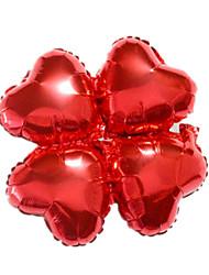Balões Decoração Para Festas Quadrangular alumínio Vermelho 5 a 7 Anos