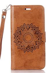 For Card Holder / with Stand / Flip Case Full Body Case Flower Hard PU Leather for LG LG K10 / LG K8 / LG K7 / LG G4 / LG G3