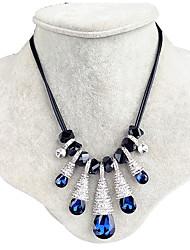 Mujer Collar Zafiro Cristal Gota Gotas de Ojos Diseño Único Azul Real Joyas Boda Fiesta Diario 1 pieza