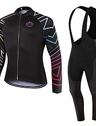 WOLFKEI Spring/Summer/Autumn Long Sleeve Cycling JerseyLong Bib Tights Ropa Ciclismo Cycling Clothing Suits #WK73