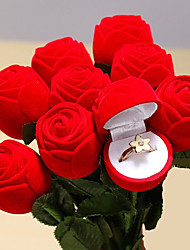 Red Rose Jewelry Ring Box Wedding Engagement Ring for Lovers Valentine Gift Box 1PCS SET