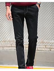 Hommes Slim Jeans Pantalon,simple Décontracté / Quotidien Couleur Pleine Taille Normale fermeture Éclair Coton Micro-élastique Automne