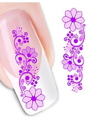 1sheet  Water Transfer Nail Art Sticker Decal XF1426