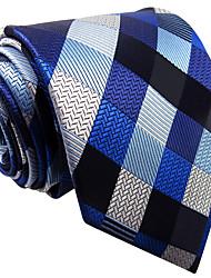 Mens Necktie Tie Multicolor Checked 100% Silk Business  Fashion Dress For Men